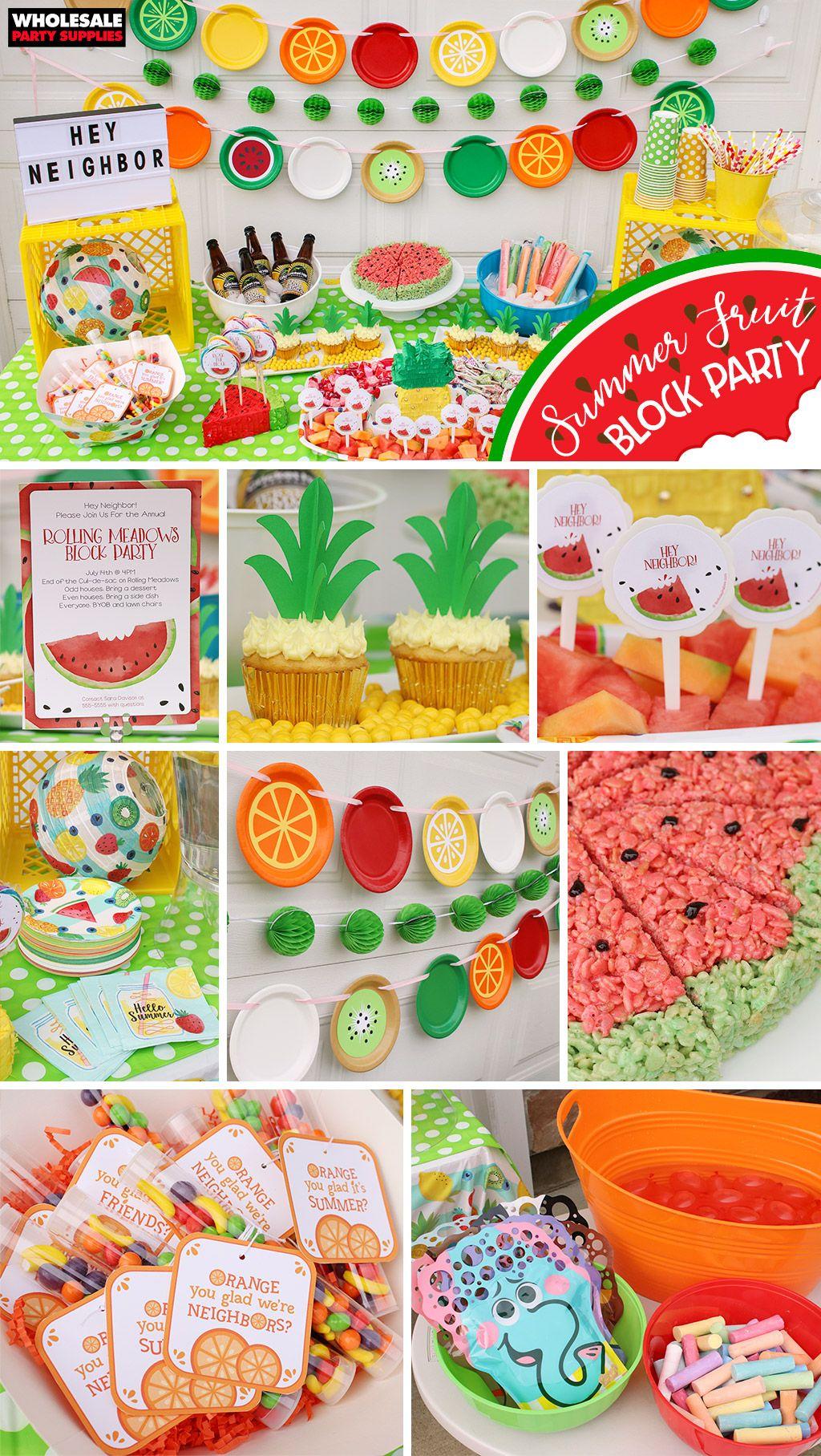 Summer Fruit Block Party Fruit Birthday Party Fruit Birthday
