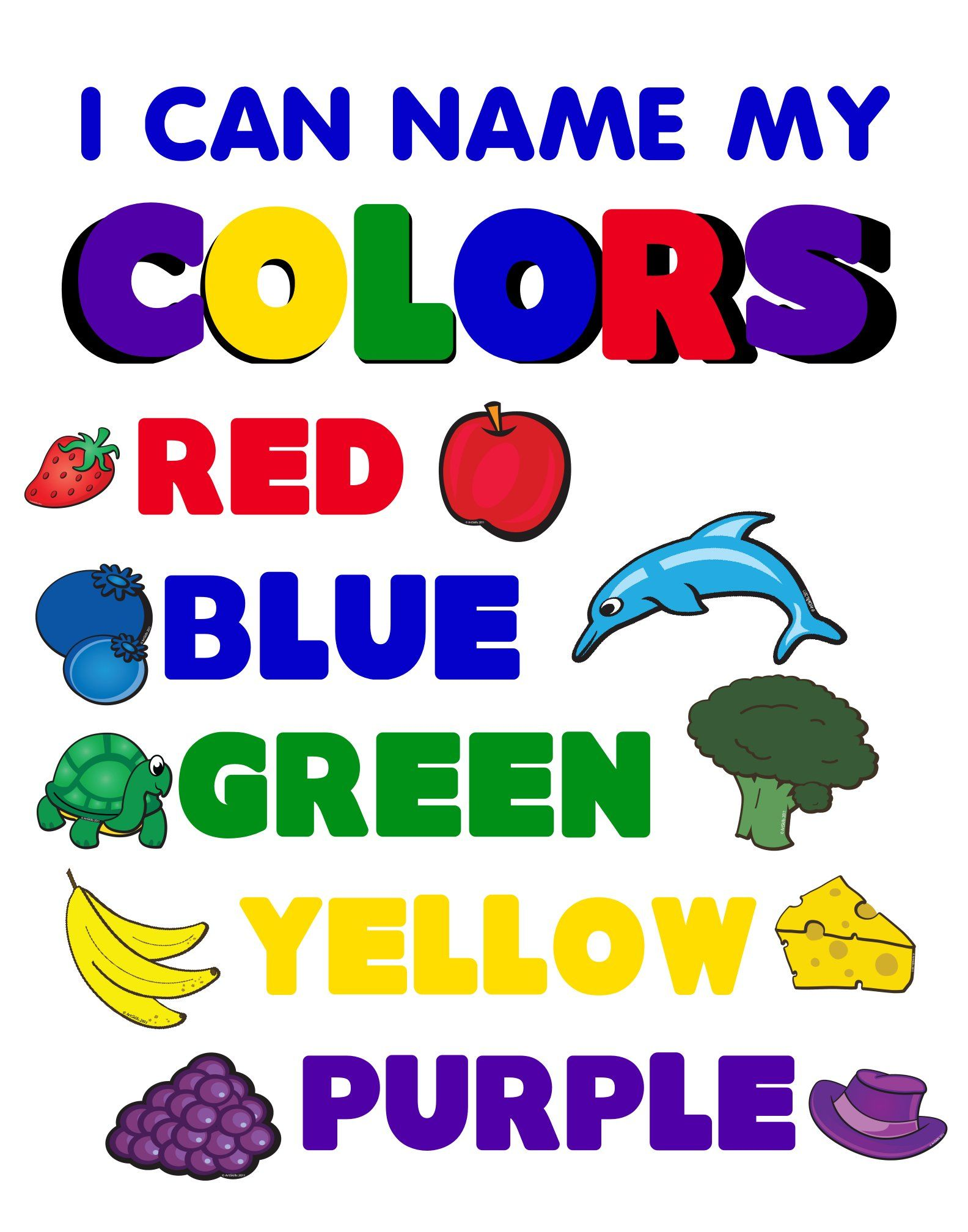 Create a I can Name My Colors Poster | School Project Poster ...