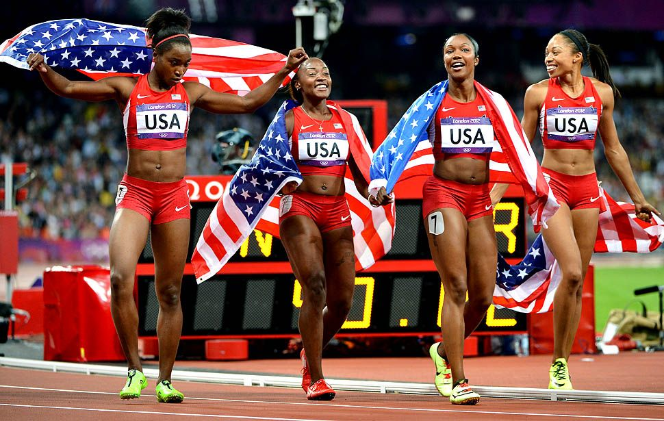 Team USA women's track team wins the gold medal at the