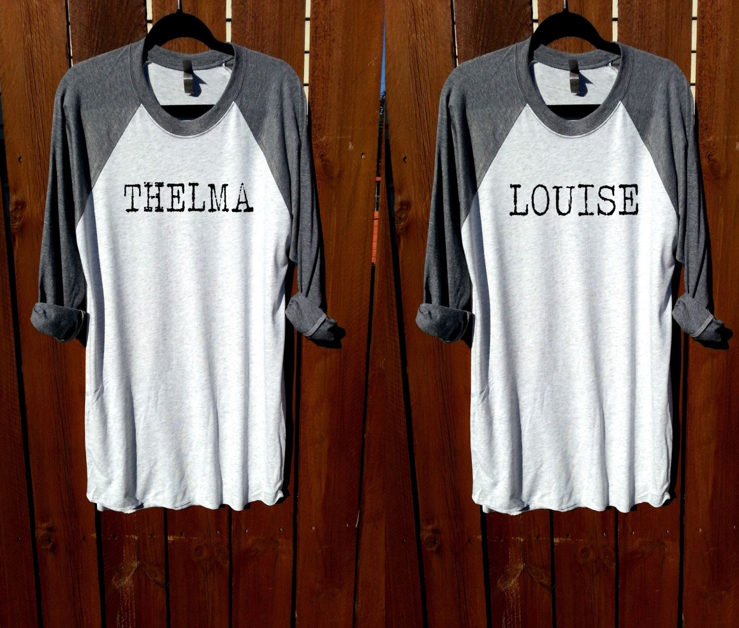 Thelma and Louise shirt, women tee,unisex tee, shirt,women clothing,tee, grey shirt, fashion shirt, workout t shirt, women t shirt by FashionCrazyGirl on Etsy https://www.etsy.com/listing/457828636/thelma-and-louise-shirt-women-teeunisex