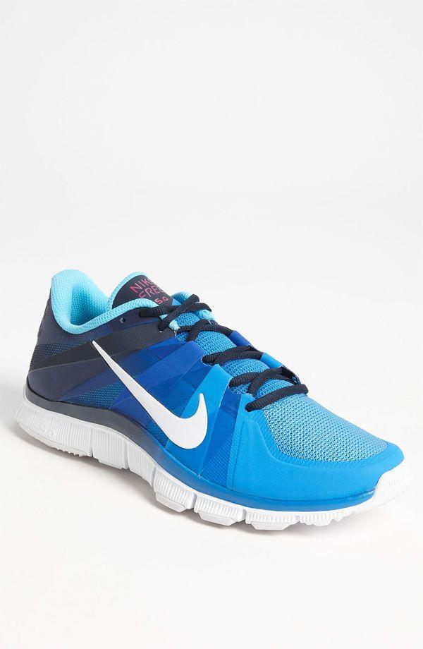 Chaussure de course Nike Free Run 3 femmes bleu Glow / P