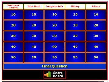 Free Instant Jeopardy Review Game Create Your Own Review Game For A Wide Variety Of Classroom Uses This Tool Create Jeopardy Game Review Games Jeopardy Game