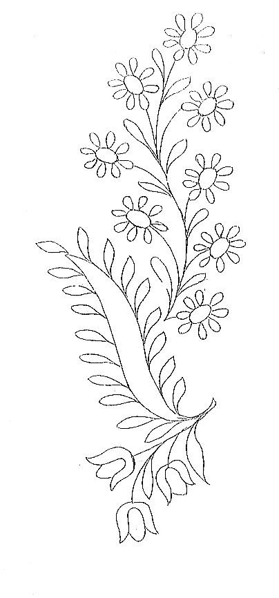 fleurs - Broderie d\'Antan   pescados   Pinterest   Bordado, Dibujos ...