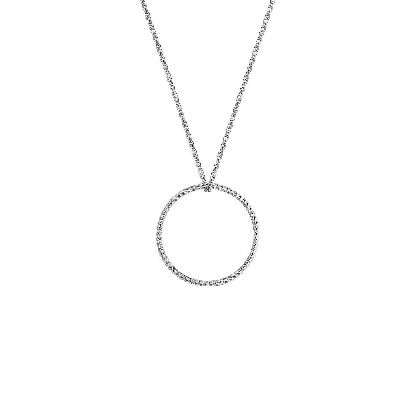Colier și pandantiv Glanzstücke cerc filigran argint