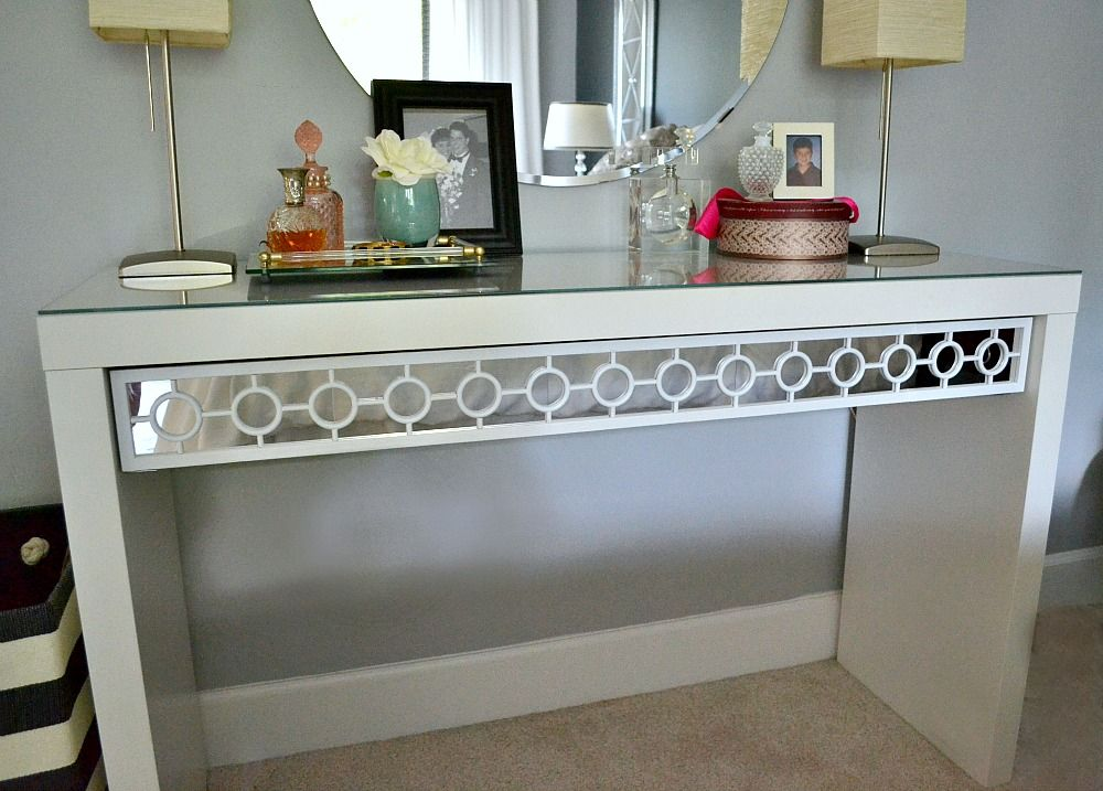 Dressing Table Gets Makeover For Under 20 Dollars {tutorial}   Ikea Malm  Dressing Table