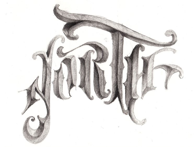 #handlettering #graphite #lettering #shading robu.co
