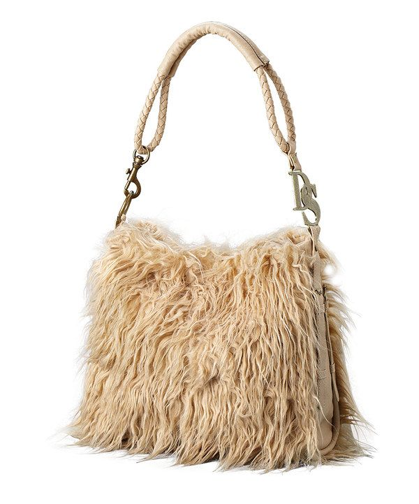 2d091640285 Look at this Taupe Faux Mongolian Camel Fur Hobo on #zulily today ...