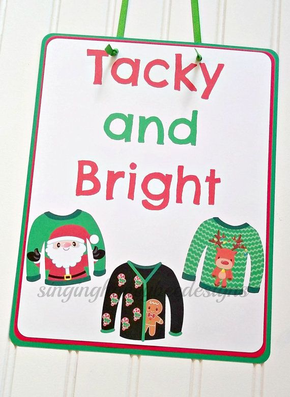 Ugly Christmas sweater door sign, Ugly Christmas sweater party