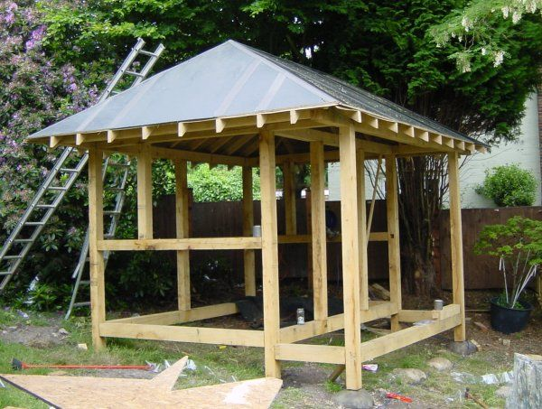 Build A Japanese Tea House - Covering The Roof
