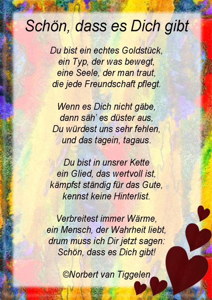 Gedicht Geburtstag Gedicht Spruche Zum Aufmuntern Geschenke