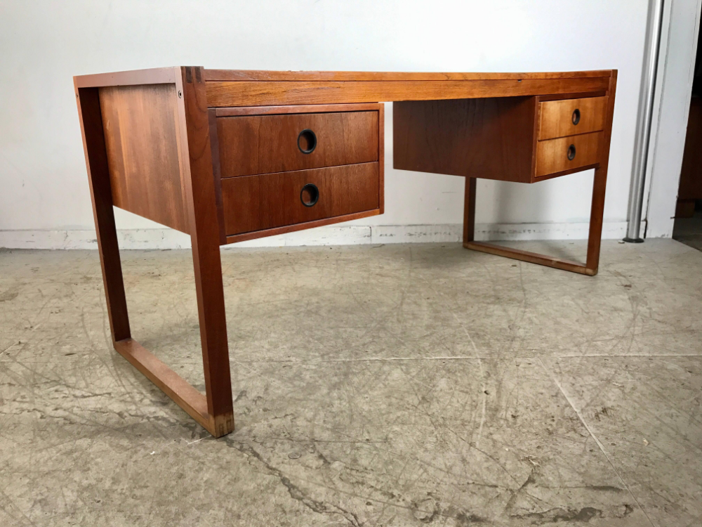 Peter Lovig Nielsen Wood Teak Dansk Denmark Modern Danish Desk