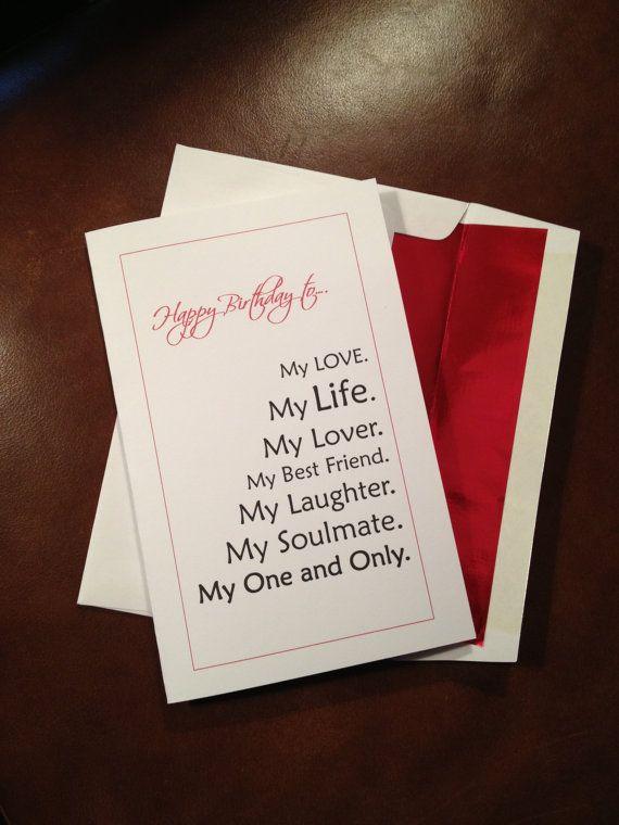 Boyfriend Fiance Husband Birthday Card By Linsartwork On Etsy