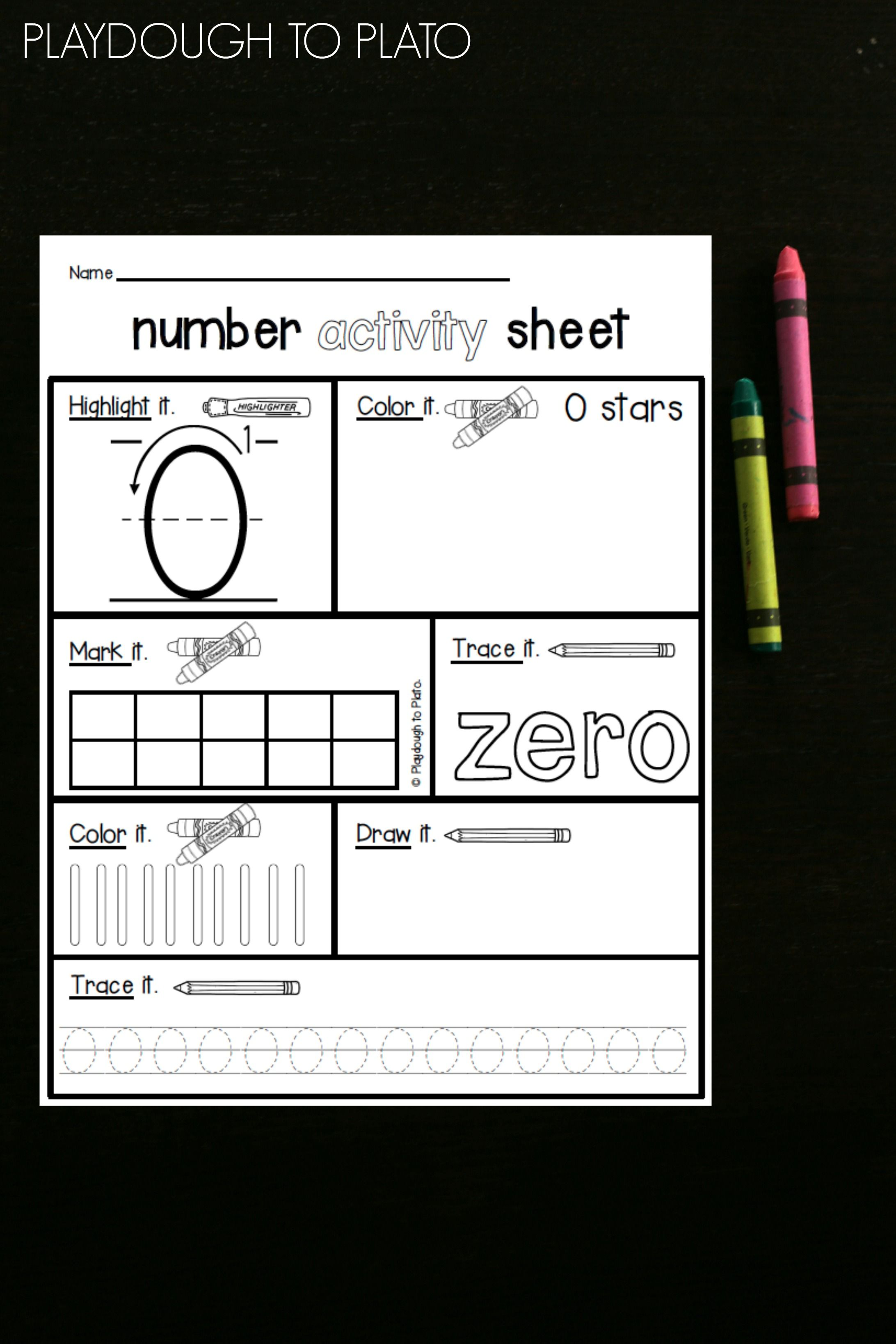 Number Activity Sheets Playdough To Plato Number Activities Kindergarten Math Activities Math Activities [ 3276 x 2184 Pixel ]