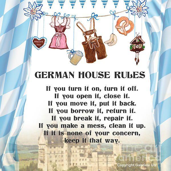 House Rules Deutsch