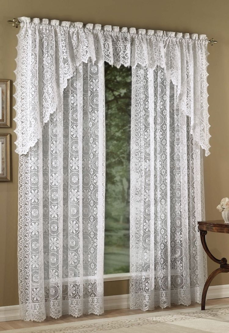 beautiful French Lace Kitchen Curtains Part - 12: Lace Curtain Irish for Modern Sheer Curtains Design Ideas: Lace Curtain  Irish | French Lace Kitchen Curtains | German Lace Curtains