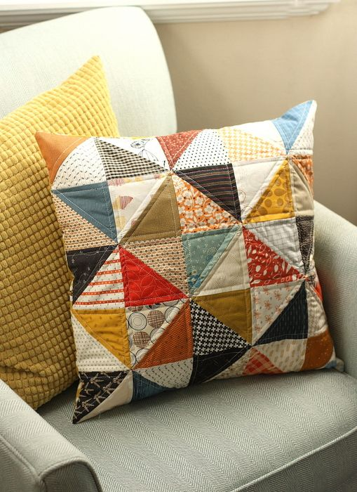 Feels like Fall - Fall patchwork pillow and tablerunner