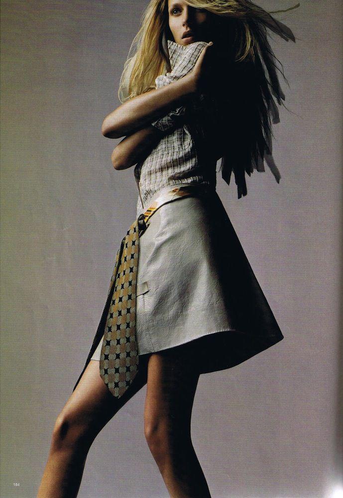 Anja Rubik | Harper's Bazaar US February 2006