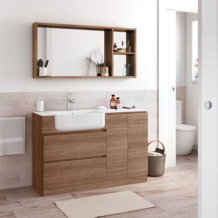 Mueble baño Zenia blanco 120 x 45 cm · LEROY MERLIN ...