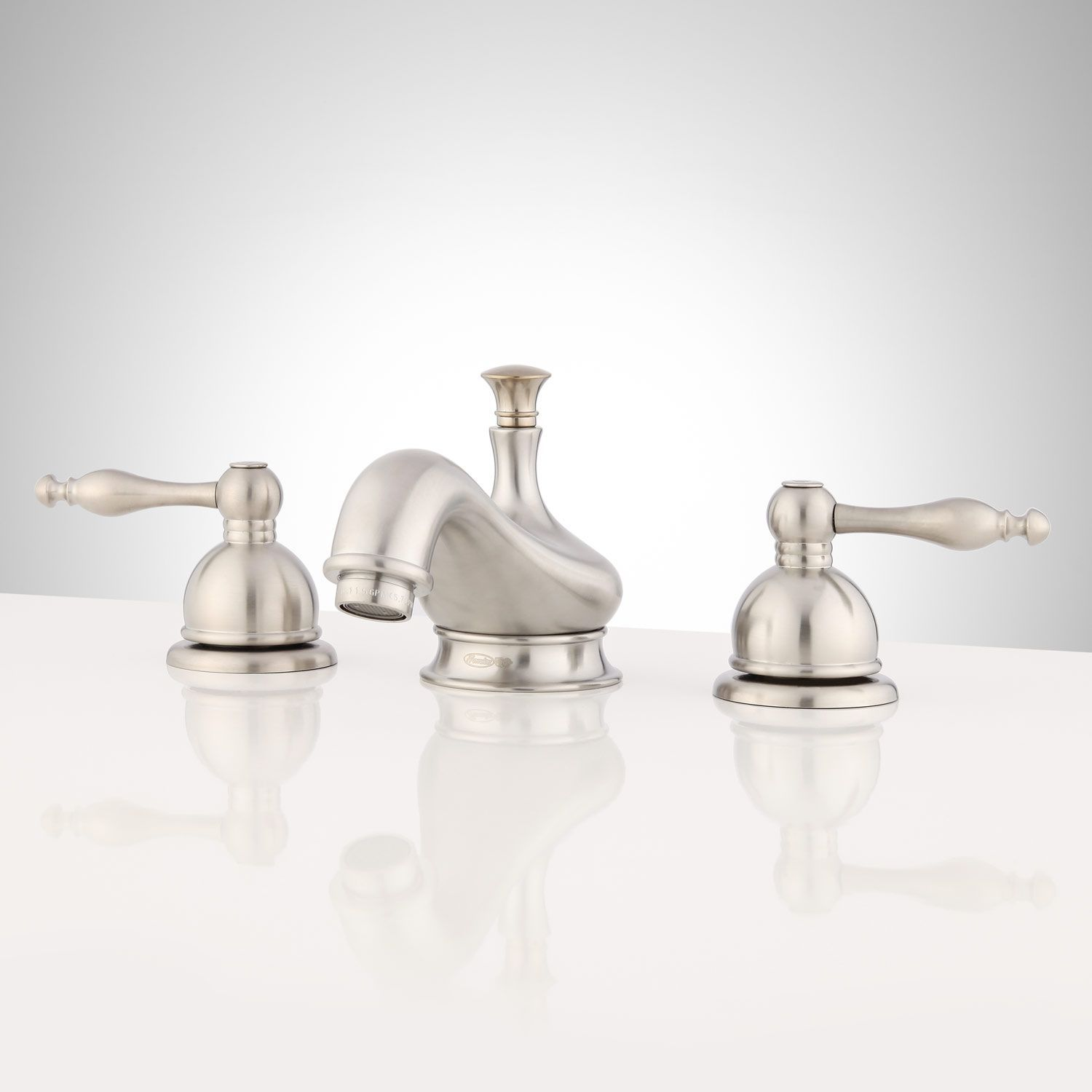Wellington Widespread Bathroom Faucet  Brushed Nickel  Bathroom Amazing Brushed Nickel Bathroom Faucets Inspiration