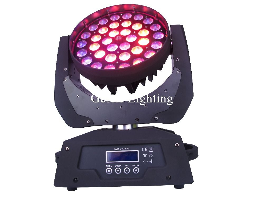 1 Pcs Lot 36 18w Beam Moving Head Light Rgbwy Uv 6in1 Zoom Led Wash Moving Head Light For Dj Stage Touch Screen Lights Lighting Led Stage Lights Dj Ligh
