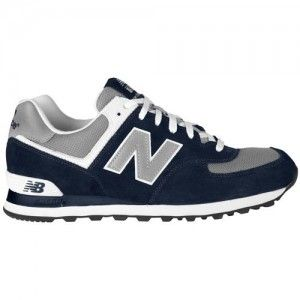 Outlets UK New Balance 574 Suede Trainers Mens Navy Blue ...