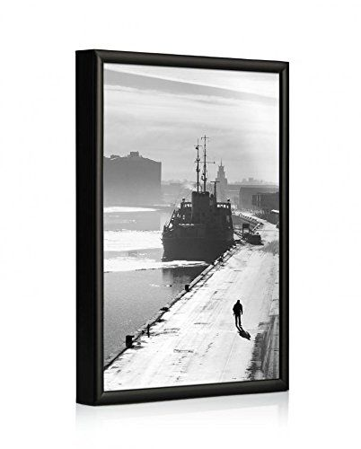 Modern Black Aluminium Picture Frame 30 X 40 Inch For Home And