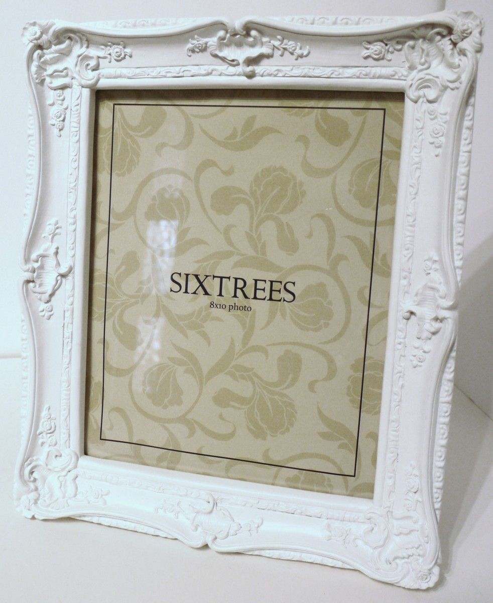 Matt White Shabby Chic Very Ornate Photo Frame For A 10 X 8