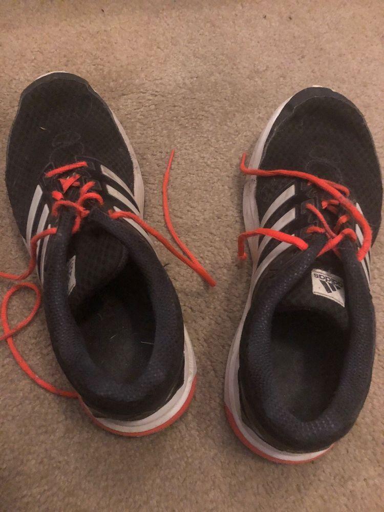 adidas black mens shoes w/ orange laces