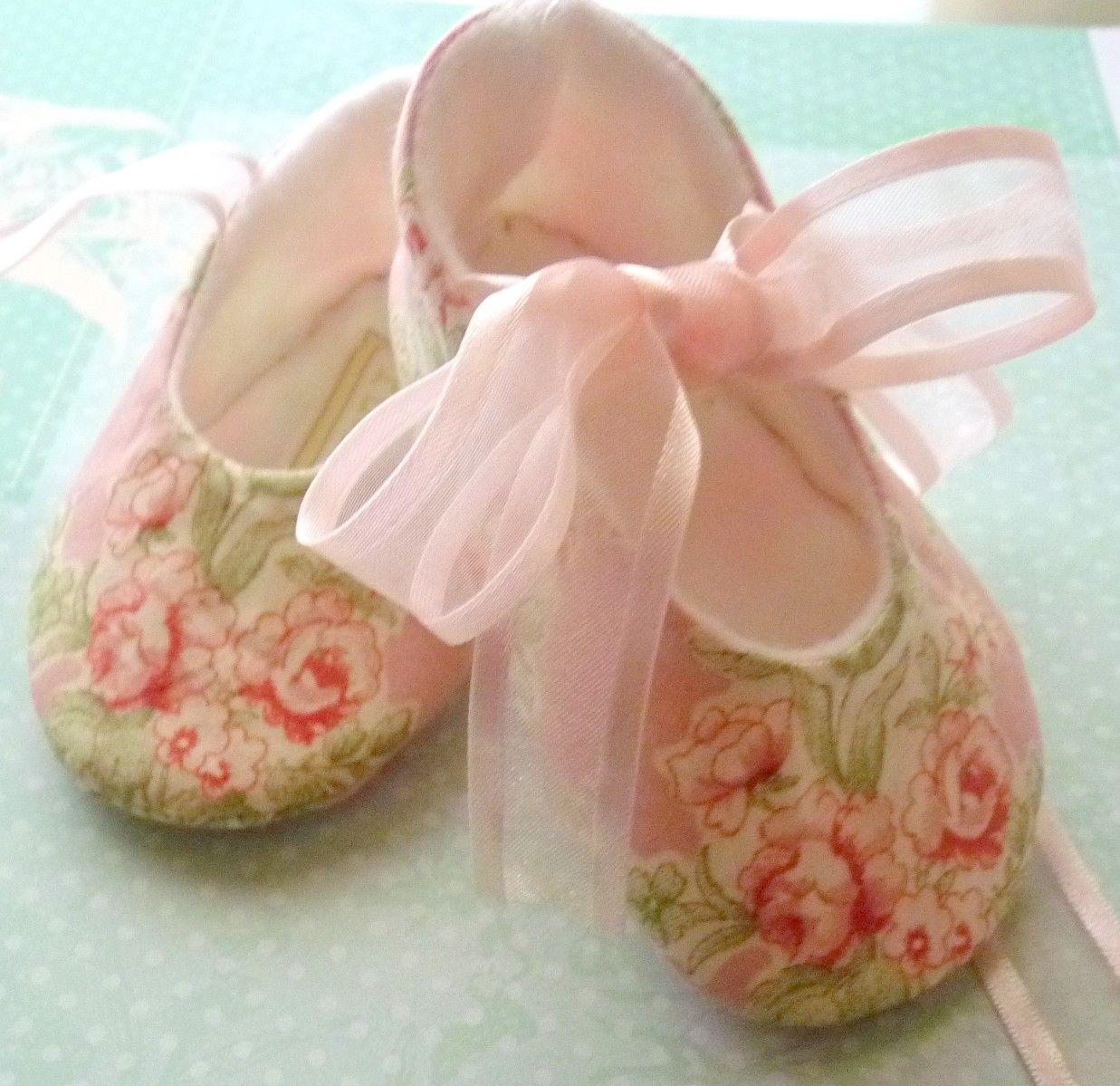 Beautiful Laura Ashley Print Baby Shoes