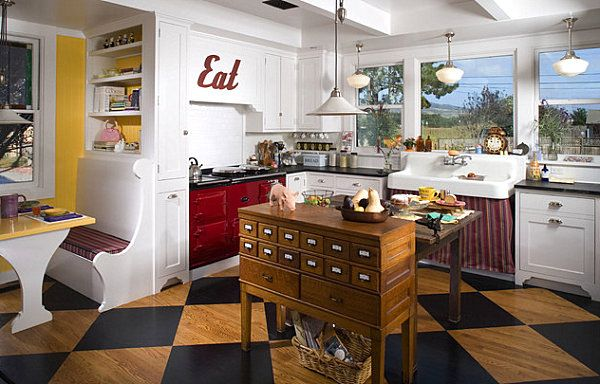 20 painted floors with modern style | kitchens, checkered floor