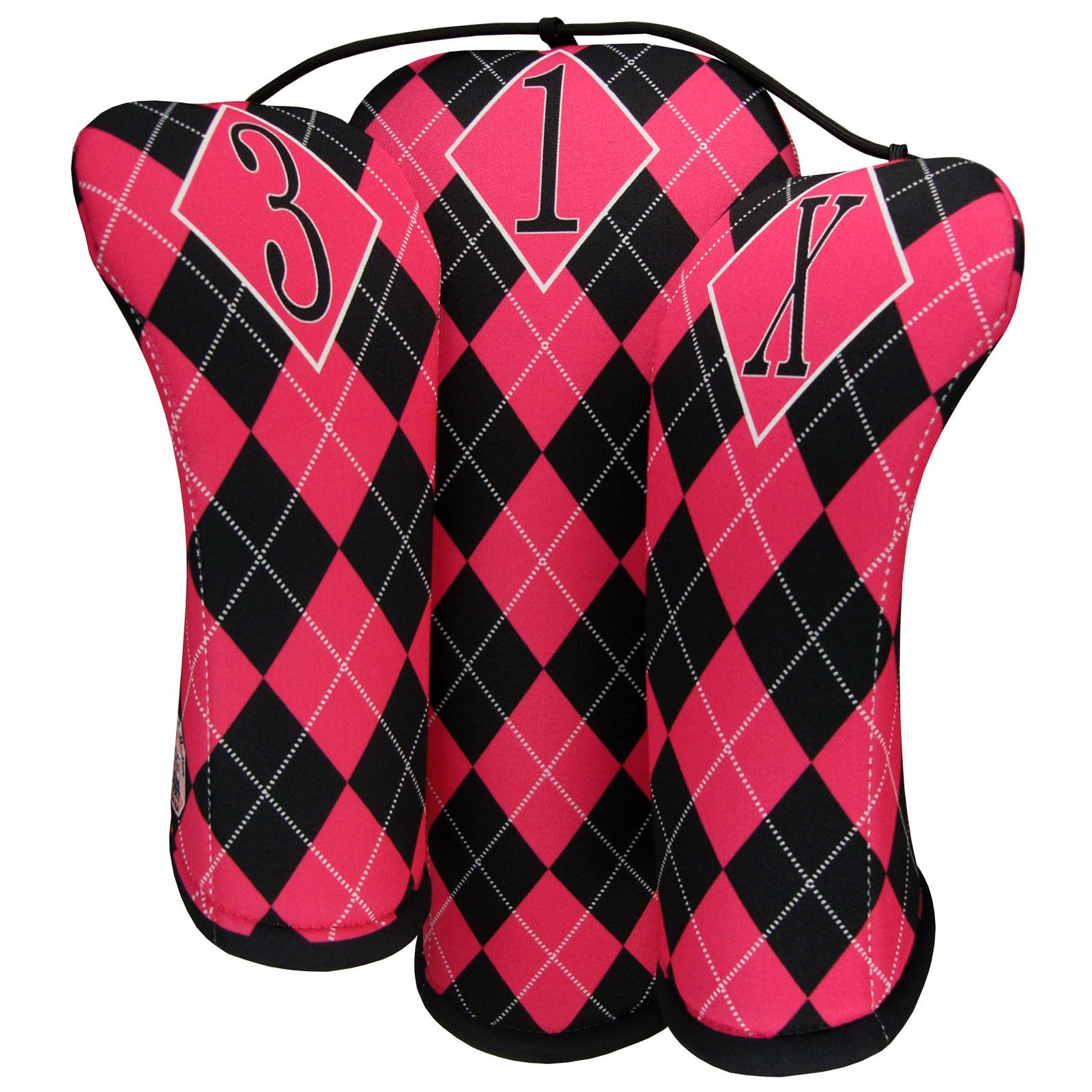 Pink Argyle Golf Club Covers Womens Golf Fashion Golf Outfits Women Golf Outfit