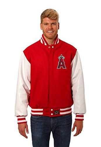 ad8aec135 Los Angeles Angels Windbreakers | Cool LA Angels Stuff | Red leather ...
