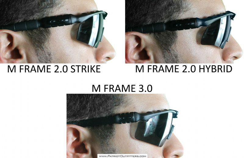 oakley m frame strike  Side comparison of Oakley M Frame 3.0 glasses with 2.0 glasses ...