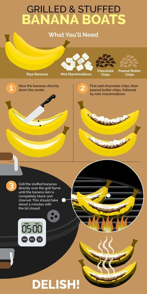 How to grill banana boats!