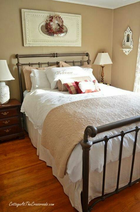 Farmhouse Bedroom Furniture: A Little More Christmas Decor