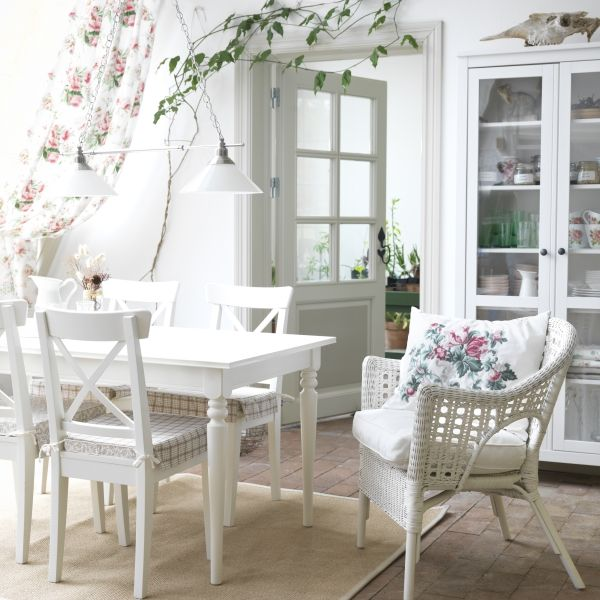INGATORP INGOLF Table and 4 chairs white Comedores Ikea y
