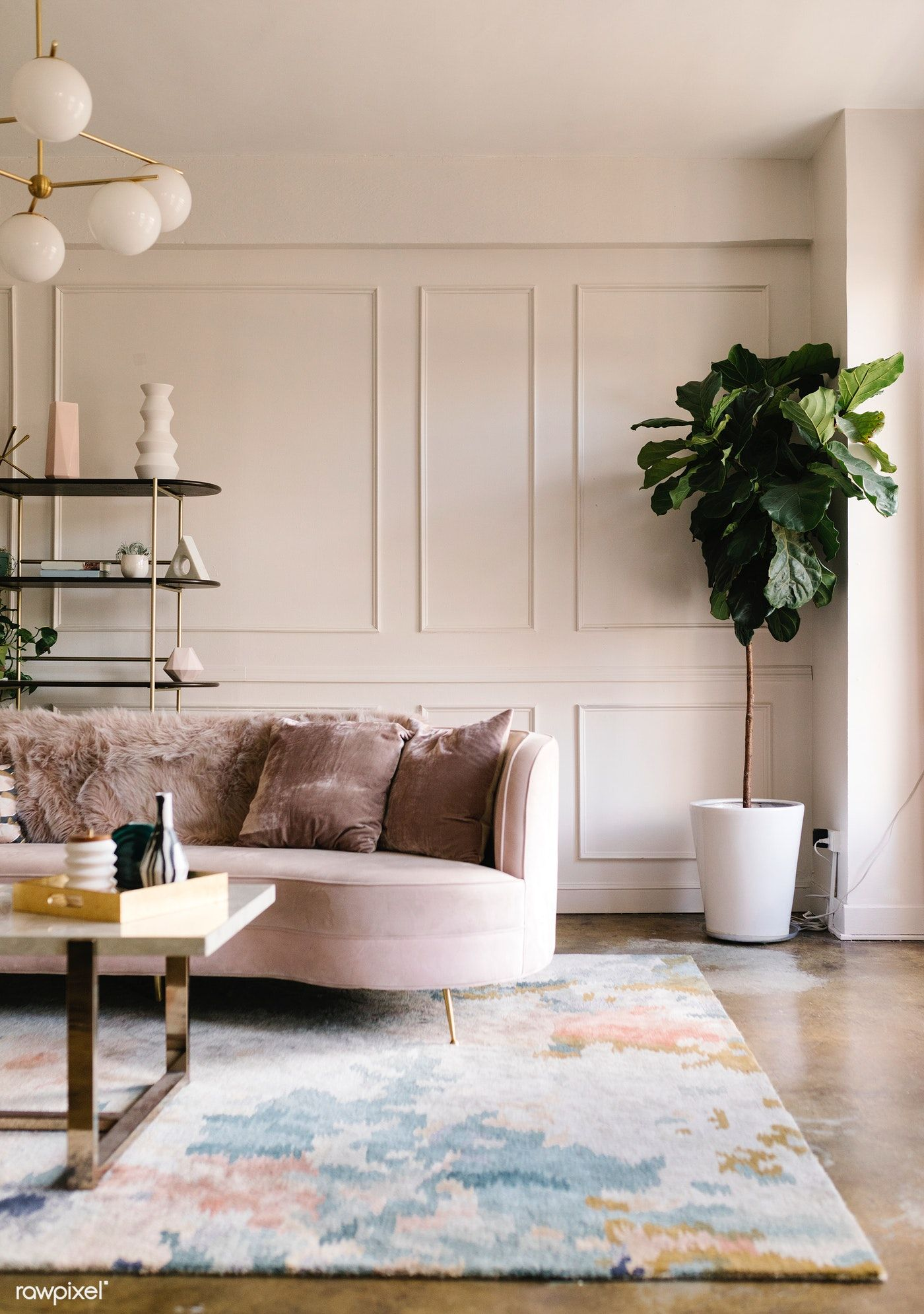 Download Premium Image Of A Modern Living Room Style 1216578 Living Room Panelling Wall Molding Living Room Pastel Living Room Background images living room
