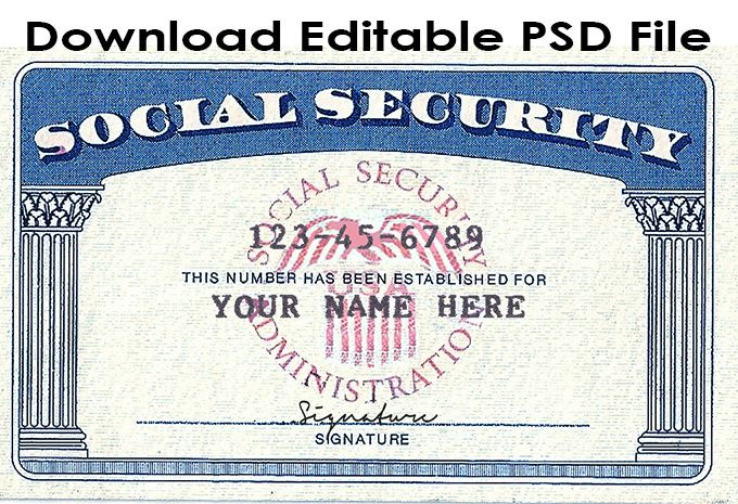 Download Social Security Card Template Psd File Link Https Throughout Quality Fake Social Secur Card Templates Free Report Card Template Social Security Card