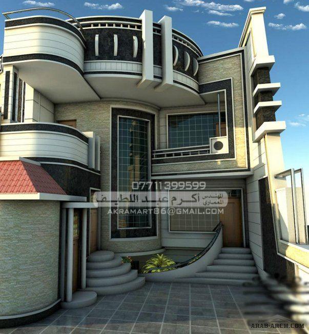 تصميمات معمارية واجهات فلل مودرن جداا 3 مكتب المهندس اكرم عبد اللطيف Cool House Designs Bungalow House Design Duplex House Design