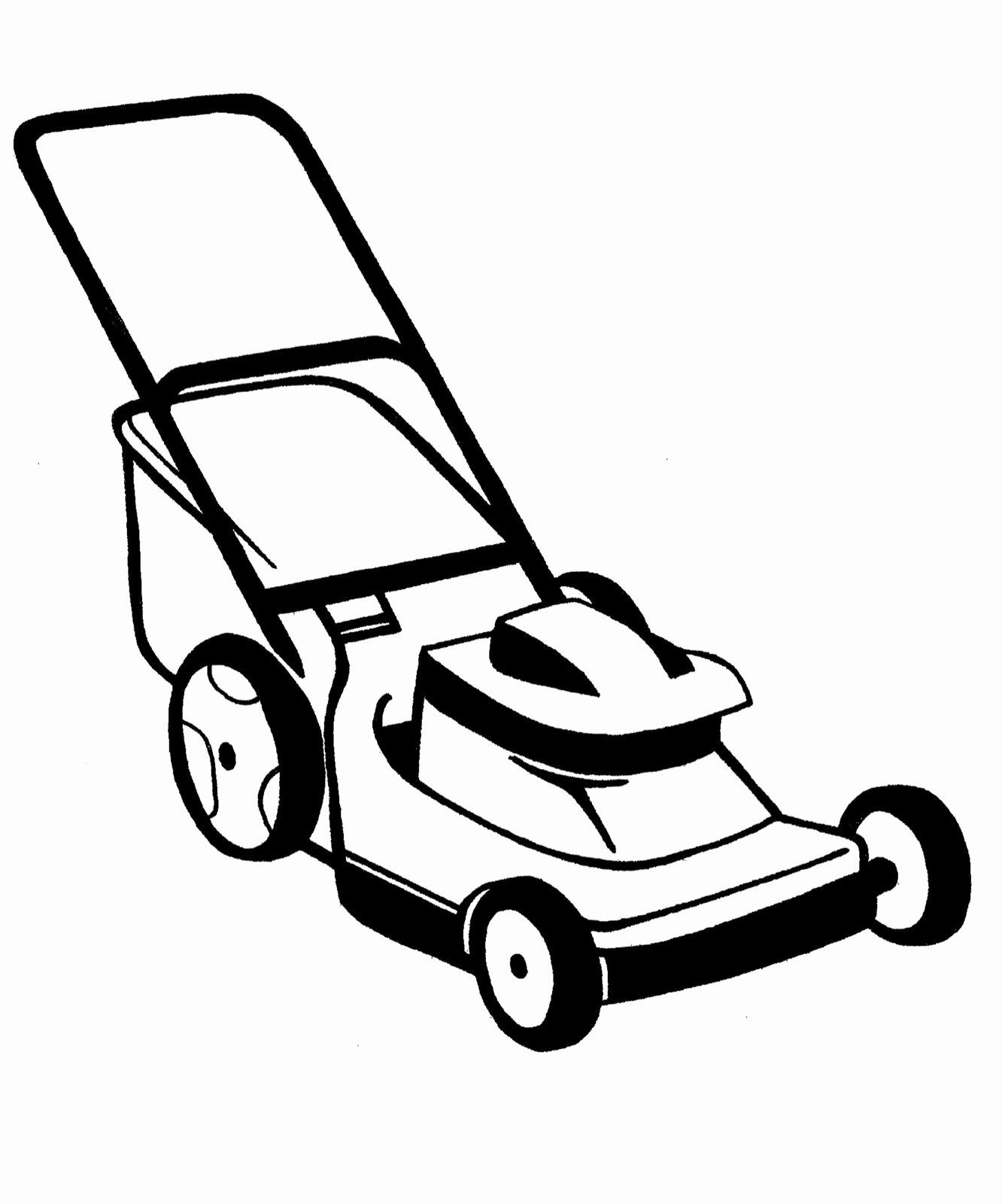 Lawn Mower Coloring Page Beautiful Black And White Lawn Mower Clipart Lawn Mower Best Lawn Mower Lawn Care Business