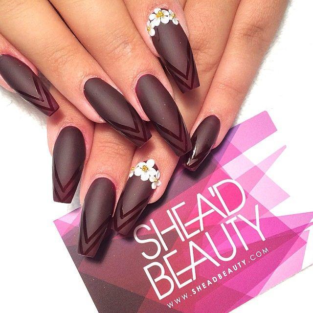 coffin nails | Bling out nails | Pinterest | Coffin nails, Nail nail ...