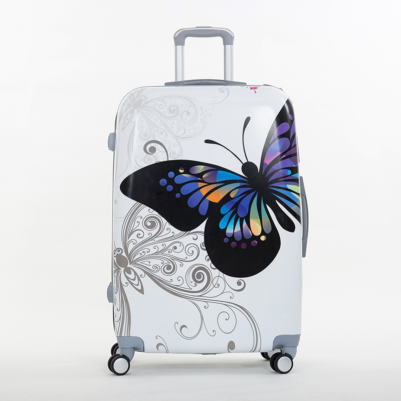 86.89$  Buy here - Wholesale!14 20inches pc butterfly travel luggage sets,universal wheels trolley luggage sets for women,super deals,hard case bag  #bestbuy