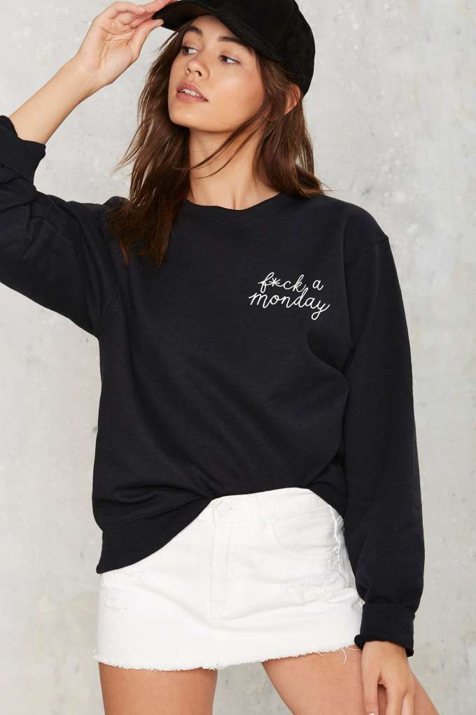 Private Party F*ck a Monday Sweatshirt - Grunge   Back In Stock   Graphics   Sweatshirts   Tops