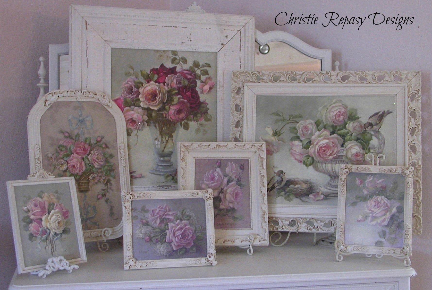 Shabby Chic Colors Style : I love my christie repasy paintings wall arrangements shabby