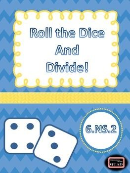 Are you looking for a quick FUN way for your students to practice multi-digit division? This no prep game is your answer. You simply need three dic…