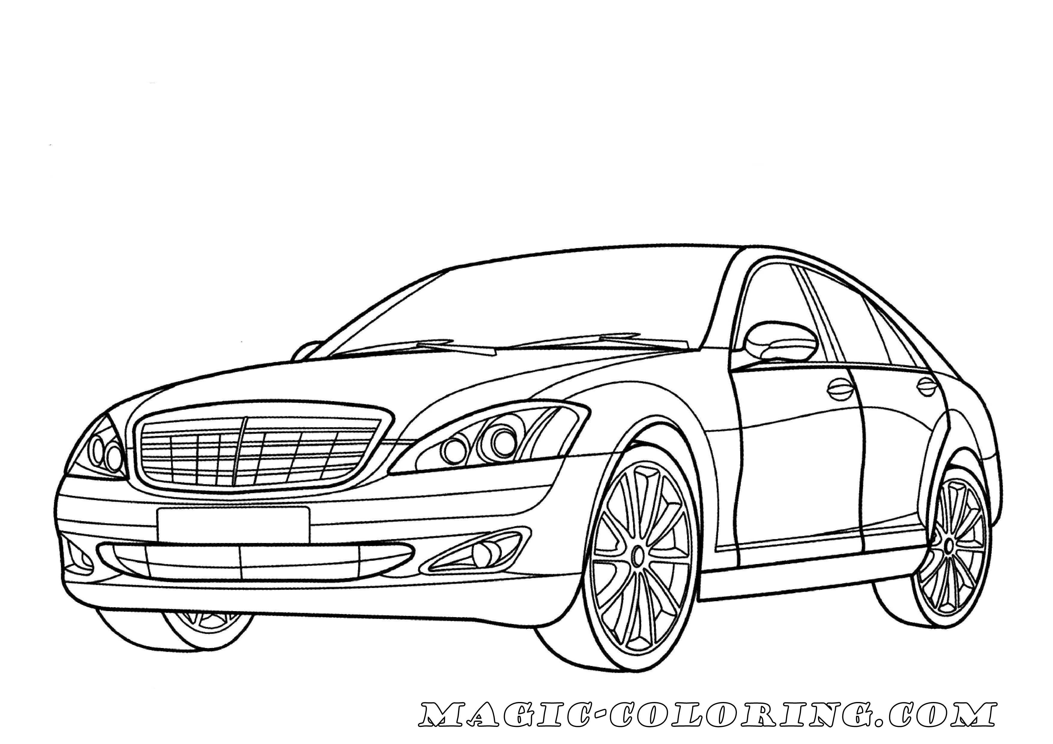 Mercedes-Benz S-Class coloring page Don`t Forget to visit
