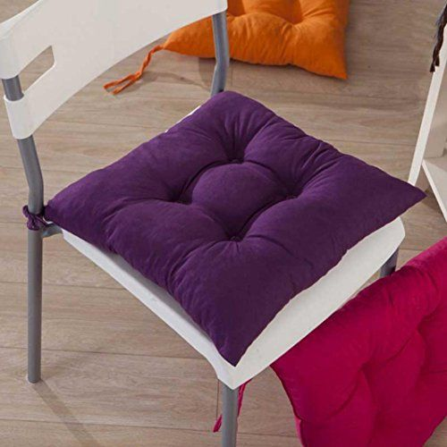 Gotd Indoor Garden Patio Home Kitchen Office Chair Pads Seat Pads Cushion Purple See This Great Pro Dining Chair Slipcovers Slipcovers For Chairs Chair Pads