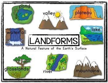 Sample Poster Landform Posters Set Social Studies Kindergarten
