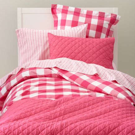 Love This Hot Pink Gingham Bedding For, Pink Gingham Baby Bedding