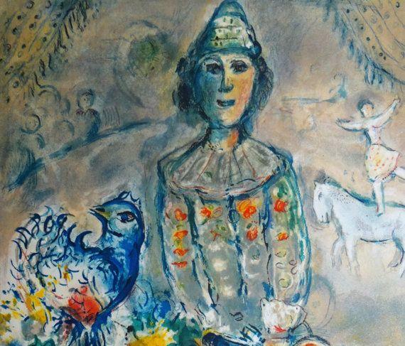 marc chagall lithographie grande figure de par marieartcollection chagall pinterest dessin. Black Bedroom Furniture Sets. Home Design Ideas